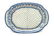 Ceramika Artystyczna Polish Pottery Platter - Oval - Primrose 684-854a (Ceramika Artystyczna)