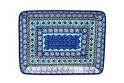 Ceramika Artystyczna Polish Pottery Platter - Rectangular - Aztec Sky 111-1917a (Ceramika Artystyczna)