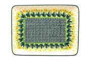 Ceramika Artystyczna Polish Pottery Platter - Rectangular - Daffodil 111-2122q (Ceramika Artystyczna)