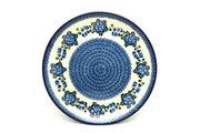 """Ceramika Artystyczna Polish Pottery Platter - Round (12 1/4"""") - Blue Poppy 256-163a (Ceramika Artystyczna)"""