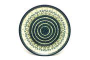 "Ceramika Artystyczna Polish Pottery Platter - Round (12 1/4"") - Blue Spring Daisy 256-614a (Ceramika Artystyczna)"