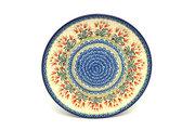 "Ceramika Artystyczna Polish Pottery Platter - Round (12 1/4"") - Crimson Bells 256-1437a (Ceramika Artystyczna)"