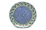 "Ceramika Artystyczna Polish Pottery Platter - Round (12 1/4"") - Huckleberry 256-1413a (Ceramika Artystyczna)"
