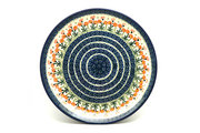 "Ceramika Artystyczna Polish Pottery Platter - Round (12 1/4"") - Peach Spring Daisy 256-560a (Ceramika Artystyczna)"