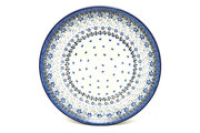 "Ceramika Artystyczna Polish Pottery Platter - Round (12 1/4"") - Silver Lace 256-2158a (Ceramika Artystyczna)"