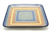 Ceramika Artystyczna Polish Pottery Platter - Square - Autumn 583-050a (Ceramika Artystyczna)