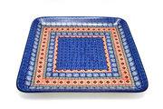 Ceramika Artystyczna Polish Pottery Platter - Square - Aztec Sun 583-1350a (Ceramika Artystyczna)