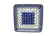 Ceramika Artystyczna Polish Pottery Platter - Square - Bleeding Heart 583-377o (Ceramika Artystyczna)