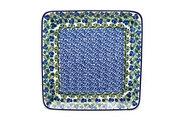 Ceramika Artystyczna Polish Pottery Platter - Square - Huckleberry 583-1413a (Ceramika Artystyczna)