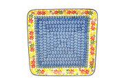 Ceramika Artystyczna Polish Pottery Platter - Square - Maple Harvest 583-2533a (Ceramika Artystyczna)