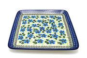 Ceramika Artystyczna Polish Pottery Platter - Square - Morning Glory 583-1915a (Ceramika Artystyczna)
