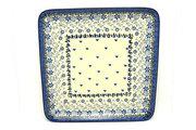 Ceramika Artystyczna Polish Pottery Platter - Square - Silver Lace 583-2158a (Ceramika Artystyczna)