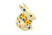 Ceramika Artystyczna Polish Pottery Rabbit Figurine - Small - Buttercup 821-2225a (Ceramika Artystyczna)