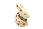 Ceramika Artystyczna Polish Pottery Rabbit Figurine - Small - Cherry Jubilee 821-2284a (Ceramika Artystyczna)
