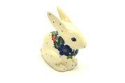 Ceramika Artystyczna Polish Pottery Rabbit Figurine - Small - Garden Party 821-1535a (Ceramika Artystyczna)