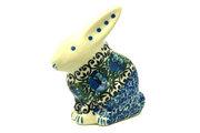 Ceramika Artystyczna Polish Pottery Rabbit Figurine - Small - Peacock Feather 821-1513a (Ceramika Artystyczna)