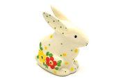 Ceramika Artystyczna Polish Pottery Rabbit Figurine - Small - Spring Blossom 821-2518q (Ceramika Artystyczna)