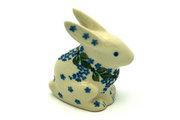 Ceramika Artystyczna Polish Pottery Rabbit Figurine - Small - Wisteria 821-1473a (Ceramika Artystyczna)