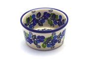 Ceramika Artystyczna Polish Pottery Ramekin - Blue Berries 409-1416a (Ceramika Artystyczna)