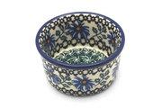 Ceramika Artystyczna Polish Pottery Ramekin - Blue Chicory 409-976a (Ceramika Artystyczna)