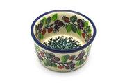 Ceramika Artystyczna Polish Pottery Ramekin - Burgundy Berry Green 409-1415a (Ceramika Artystyczna)