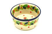 Ceramika Artystyczna Polish Pottery Ramekin - Christmas Holly 409-2541a (Ceramika Artystyczna)