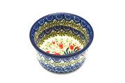 Ceramika Artystyczna Polish Pottery Ramekin - Crimson Bells 409-1437a (Ceramika Artystyczna)
