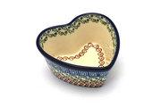 Ceramika Artystyczna Polish Pottery Ramekin - Heart - Autumn A45-050a (Ceramika Artystyczna)