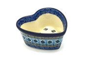 Ceramika Artystyczna Polish Pottery Ramekin - Heart - Aztec Sky A45-1917a (Ceramika Artystyczna)