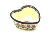 Ceramika Artystyczna Polish Pottery Ramekin - Heart - Maraschino A45-1916a (Ceramika Artystyczna)