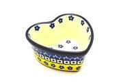 Ceramika Artystyczna Polish Pottery Ramekin - Heart - Sunburst A45-859a (Ceramika Artystyczna)