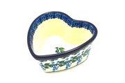 Ceramika Artystyczna Polish Pottery Ramekin - Heart - Wisteria A45-1473a (Ceramika Artystyczna)