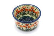 Ceramika Artystyczna Polish Pottery Ramekin - Peach Spring Daisy 409-560a (Ceramika Artystyczna)