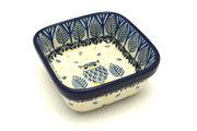 Ceramika Artystyczna Polish Pottery Ramekin - Square - Unikat Signature - U4873 428-U4873 (Ceramika Artystyczna)