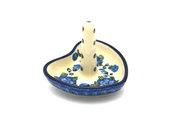 Ceramika Artystyczna Polish Pottery Ring Holder - Blue Poppy 904-163a (Ceramika Artystyczna)