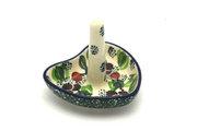Ceramika Artystyczna Polish Pottery Ring Holder - Burgundy Berry Green 904-1415a (Ceramika Artystyczna)