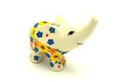 Ceramika Artystyczna Polish Pottery Ring Holder - Elephant - Buttercup A57-2225a (Ceramika Artystyczna)