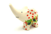 Ceramika Artystyczna Polish Pottery Ring Holder - Elephant - Christmas Holly A57-2541a (Ceramika Artystyczna)