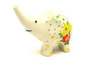 Ceramika Artystyczna Polish Pottery Ring Holder - Elephant - Spring Blossom A57-2518q (Ceramika Artystyczna)