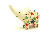Ceramika Artystyczna Polish Pottery Ring Holder - Elephant - Star Studded A57-2258a (Ceramika Artystyczna)
