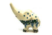 Ceramika Artystyczna Polish Pottery Ring Holder - Elephant - Wisteria A57-1473a (Ceramika Artystyczna)
