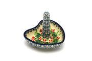 Ceramika Artystyczna Polish Pottery Ring Holder - Holly Berry 904-1734a (Ceramika Artystyczna)