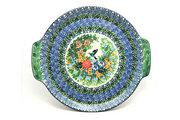 Ceramika Artystyczna Polish Pottery Round Tray with Handles - Unikat Signature - U3271 152-U3271 (Ceramika Artystyczna)