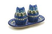 Ceramika Artystyczna Polish Pottery Salt & Pepper Set - Antique Rose 131-1390a (Ceramika Artystyczna)
