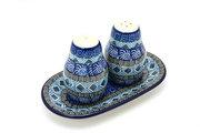 Ceramika Artystyczna Polish Pottery Salt & Pepper Set - Aztec Sky 131-1917a (Ceramika Artystyczna)