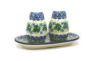 Ceramika Artystyczna Polish Pottery Salt & Pepper Set - Ivy Trail 131-1898a (Ceramika Artystyczna)