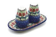 Ceramika Artystyczna Polish Pottery Salt & Pepper Set - Maraschino 131-1916a (Ceramika Artystyczna)