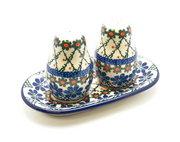 Ceramika Artystyczna Polish Pottery Salt & Pepper Set - Primrose 131-854a (Ceramika Artystyczna)