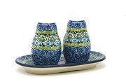 Ceramika Artystyczna Polish Pottery Salt & Pepper Set - Tranquility 131-1858a (Ceramika Artystyczna)