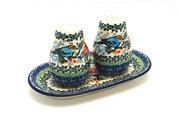 Ceramika Artystyczna Polish Pottery Salt & Pepper Set - Unikat Signature U3184 131-U3184 (Ceramika Artystyczna)
